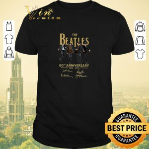 Top The Beatles 1960 2020 60th anniversary all siganture shirt sweater