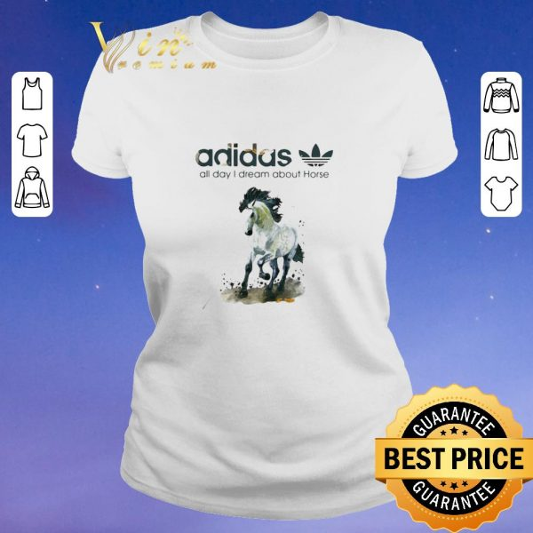 Top addicted adidas all day i dream about horse shirt sweater