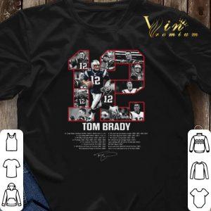 12 Tom Brady signatures New England Patriots shirt sweater 2