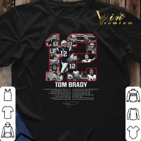 12 Tom Brady signatures New England Patriots shirt sweater