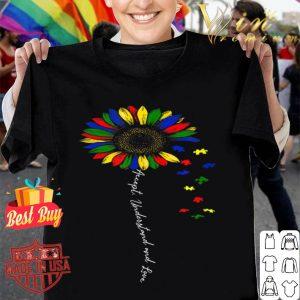 Accept Understand Love Sunflower Autism Awareness Support shirt