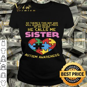 Autism Awareness Boy Piece Of My Heart Gift Sister shirt