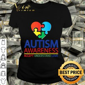 Autism Awareness Day 2020 -Accept Understand Love Gift shirt