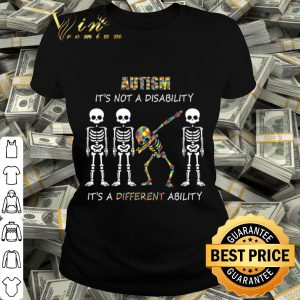 Autism It's not a disability Dabbing skeleton shirt