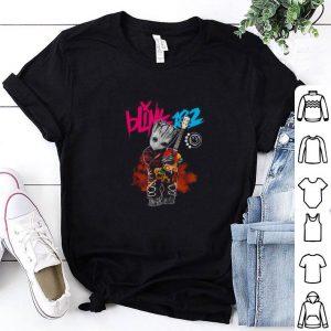 Awesome Baby Groot hug Blink 182 guitar shirt