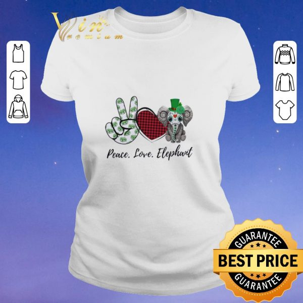 Awesome Peace Love Lucky Elephant St. Patrick's day shirt sweater