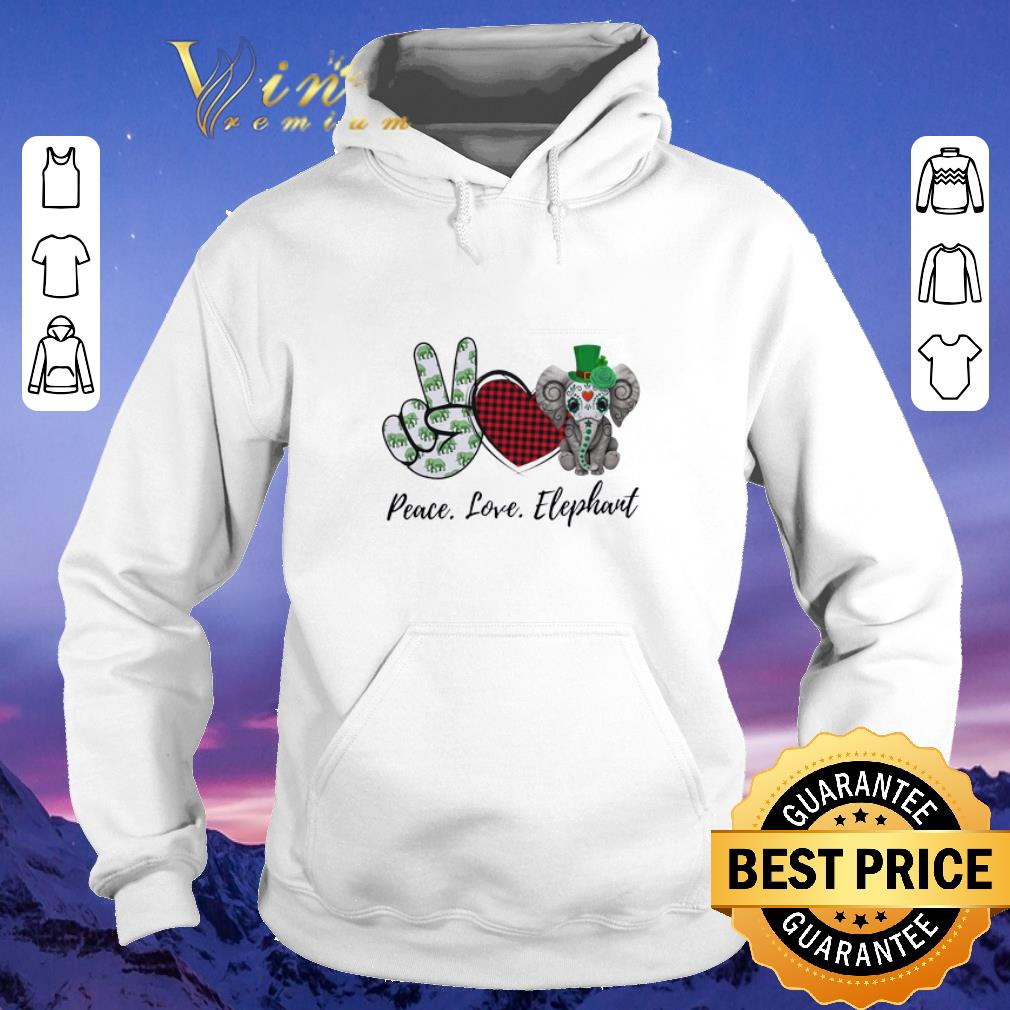 Awesome Peace Love Lucky Elephant St Patrick s day shirt sweater 4 - Awesome Peace Love Lucky Elephant St. Patrick's day shirt sweater