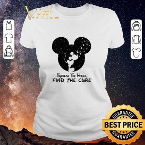 Awesome Spread The Hope Find The Cure Breast Cancer Awareness Mickey Mouse shirt sweater