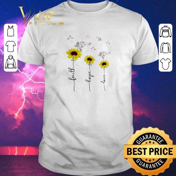 Awesome Sunflower angel faith hope love shirt sweater
