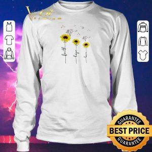 Awesome Sunflower angel faith hope love shirt sweater 2