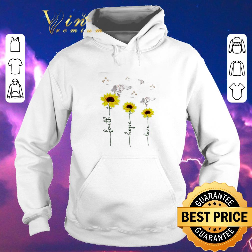 Awesome Sunflower angel faith hope love shirt sweater 4 - Awesome Sunflower angel faith hope love shirt sweater