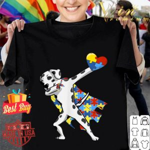Cute Dabbing Dalmatian Dog Autism Awareness Gifts shirt