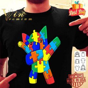 Dabbing Elephant Puzzle Pieces Autism Dab Boys Girls Kids shirt