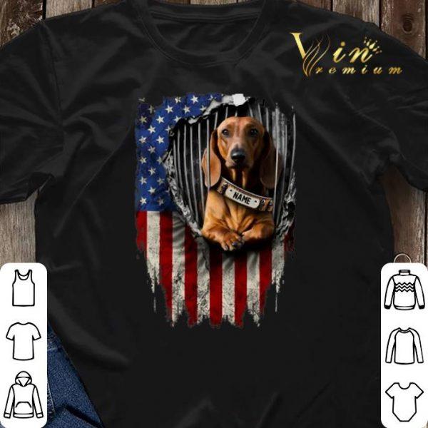 Dachshund dog name American flag shirt sweater
