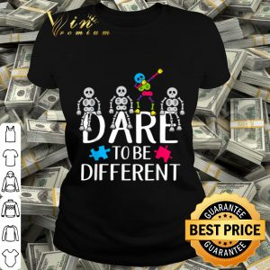 Dare to be Different Autism Awareness Puzzle Pieces shirt