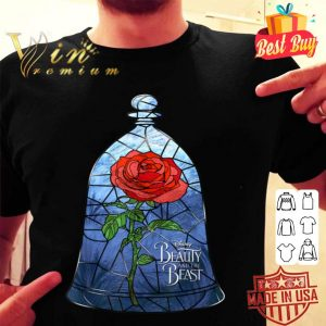 Disney Beauty & The Beast The Rose In Glass Graphic shirt