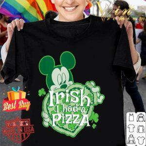 Disney Mickey Irish I had Pizza St. Patrick's Day shirt