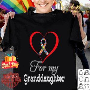 For My Granddaughter Puzzle Ribbon Autism Awareness Rainbow B084GRWT2N shirt