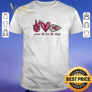 Hot Peace Love Kansas City Chiefs logo shirt sweater