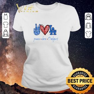 Hot Peace love Los Angeles Dodgers diamond shirt sweater