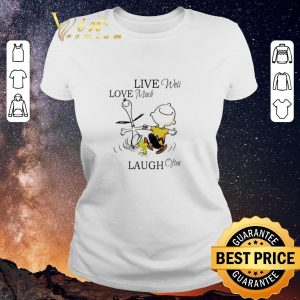 Hot Snoopy and Charlie Brown live well love much laugh often shirt sweater