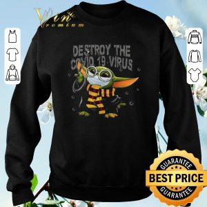 Official Baby Yoda mashup Harry Potter Destroy the Covid-19 Virus shirt sweater 2