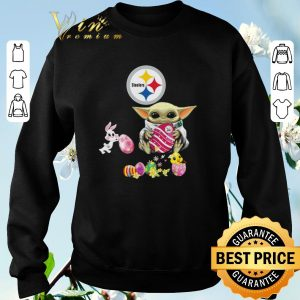 Original Baby Yoda Hug Pittsburgh Steelers eggs Fertility at Easter shirt sweater 2