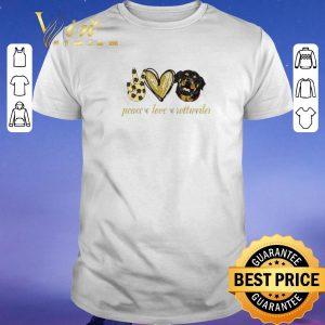 Premium Peace love Rottweiler dog shirt sweater