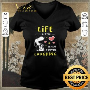 Premium Snoopy Life Is better When You're Laughing shirt sweater
