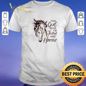 Premium This girl runs on jesus and horses shirt sweater