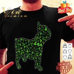 Shamrock French Bulldog Dog Mom Dad St Patricks Day Irish T-shirt