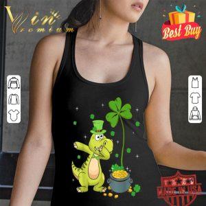 Shamrock Leprechaun Dinosaur St Patrick's Day T-shirt