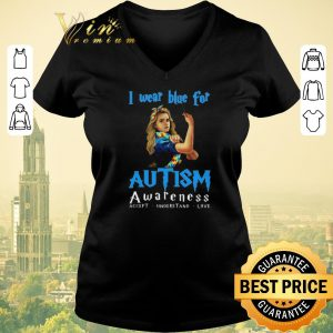 Top Hermione Granger i wear blue for Autism awareness Harry Potter shirt sweater
