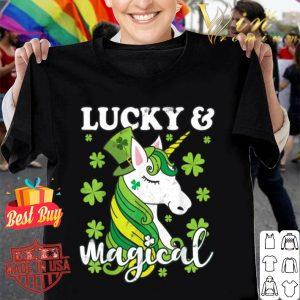 Unicorn Magical St Patricks Day Lepricorn Girl Women Costume T-shirt