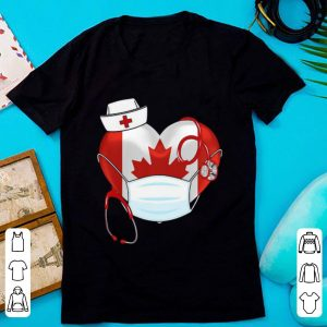 Canadian Nurse Stethoscope Heart 2020 Coronavirus Shirt