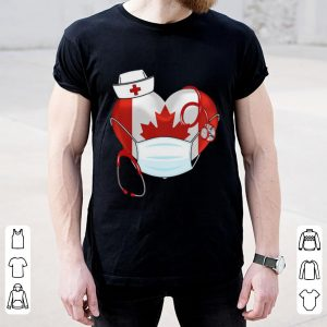 Canadian Nurse Stethoscope Heart 2020 Coronavirus Shirt 1