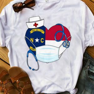 Carolina State Nurse Heart Stethoscope Shirt