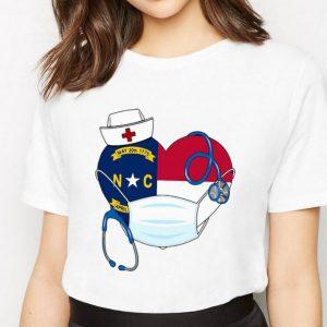 Carolina State Nurse Heart Stethoscope Shirt 2