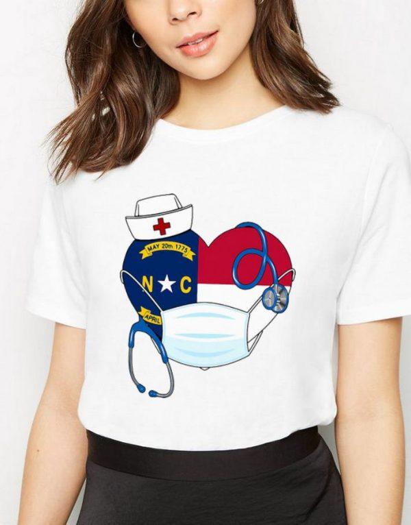 Carolina State Nurse Heart Stethoscope Shirt