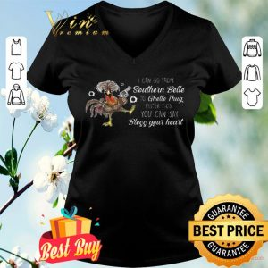 Chicken I Can Go From Southern Belle To Ghetto Thug Faster shirt