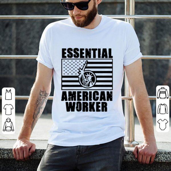 Essential American Worker Liberty American Flag Shirt