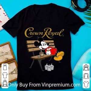 Mickey Mouse Drinking Crown Royal Beer Shirt