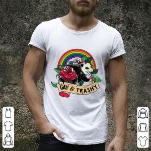 Rainbow Opossum LGBT Gay And Trashy Shirt