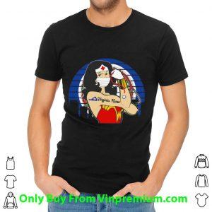 Vintage Wonder Woman Virginia Nurse Stethoscope Covid-19 Shirt