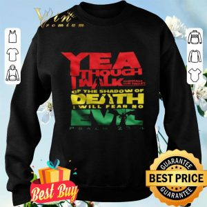 Yea Though I Walk Through The Valley Of The Shadow Of Death I Will Fear No Evil shirt