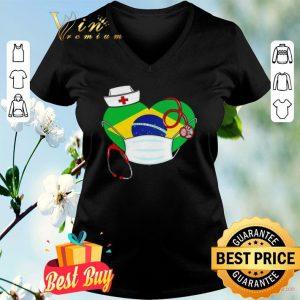 nurse Brazil heart shirt