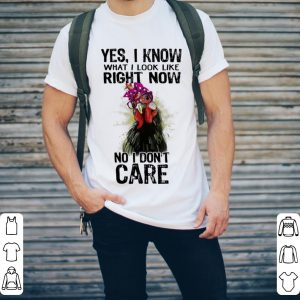 Chicken Yes i know what i look like right now no i don't care shirt