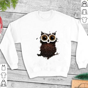 Coffee beans owl shirt