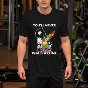 Father and son You'll never walk alone Autism shirt