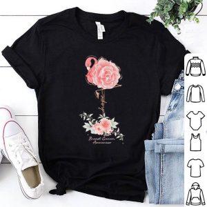 Flamingo Rose Hope Breast Cancer Awareness shirt